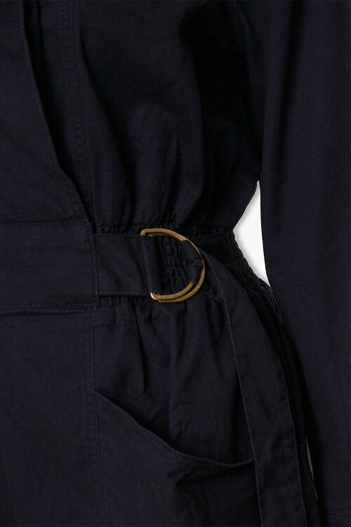 Plus Size Surplice Belted Romper, image 4