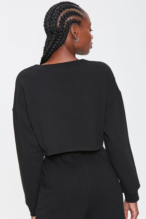 French Terry Drop-Sleeve Top, image 3