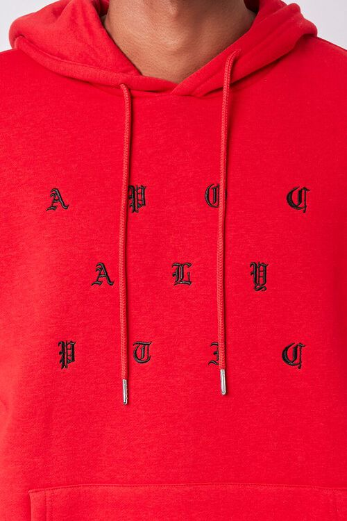 RED/BLACK Apocalyptic Embroidered Graphic Hoodie, image 5