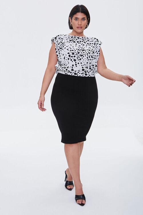 Plus Size Sweater-Knit Pencil Skirt, image 5