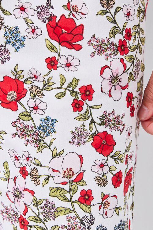 Floral Print Drawstring Shorts, image 6