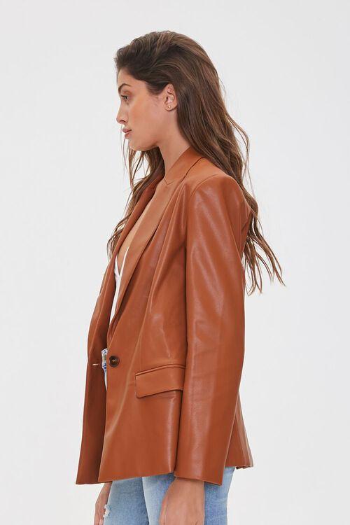 Faux Leather Blazer, image 2