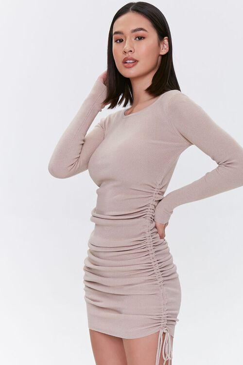 Drawstring Bodycon Midi Dress, image 1