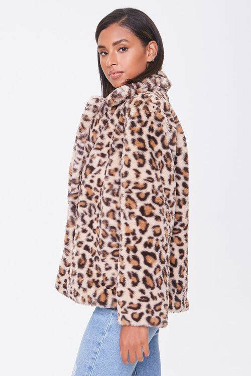 Plush Leopard Print Jacket, image 2