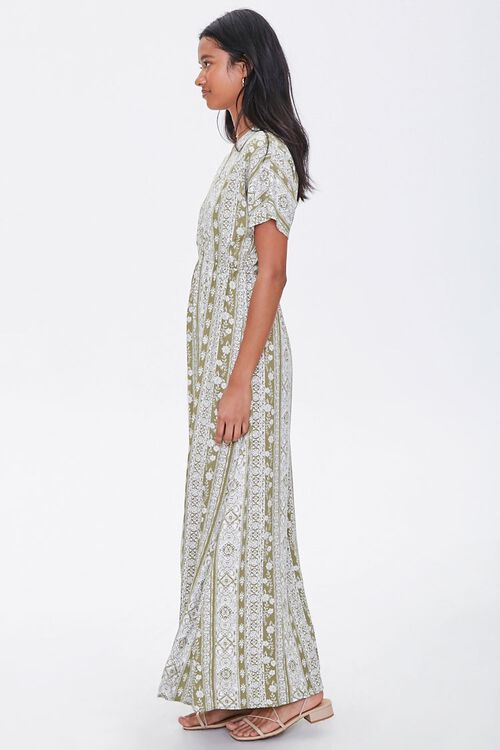 Plunging Floral Maxi Dress, image 2