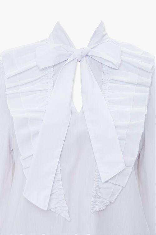 Tie-Neck Ruffle Top, image 4