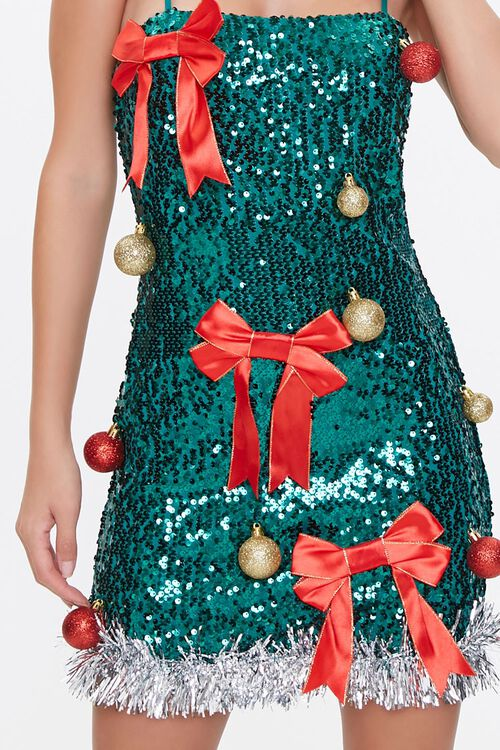 Sequin Christmas Tree Dress, image 5