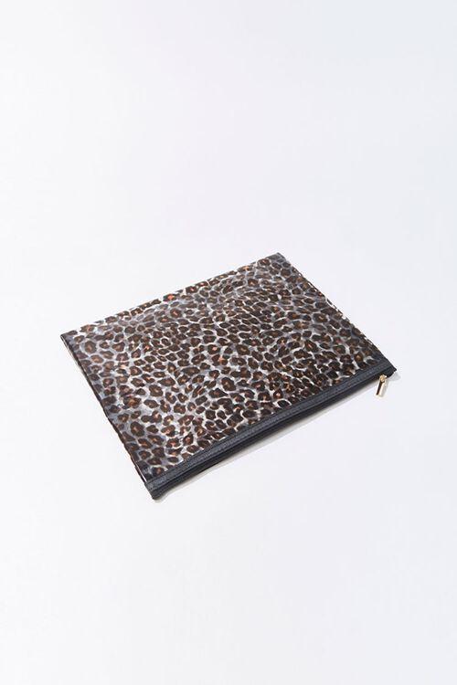 Leopard Print Vinyl Pouch, image 3
