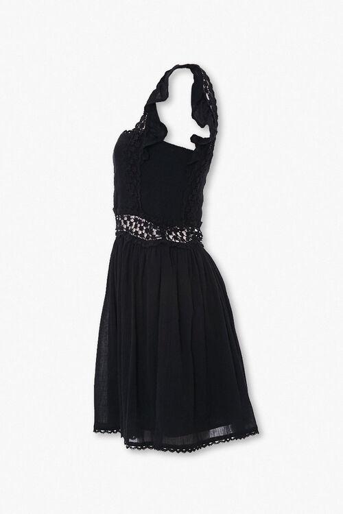Crochet-Trim Fit & Flare Dress, image 2