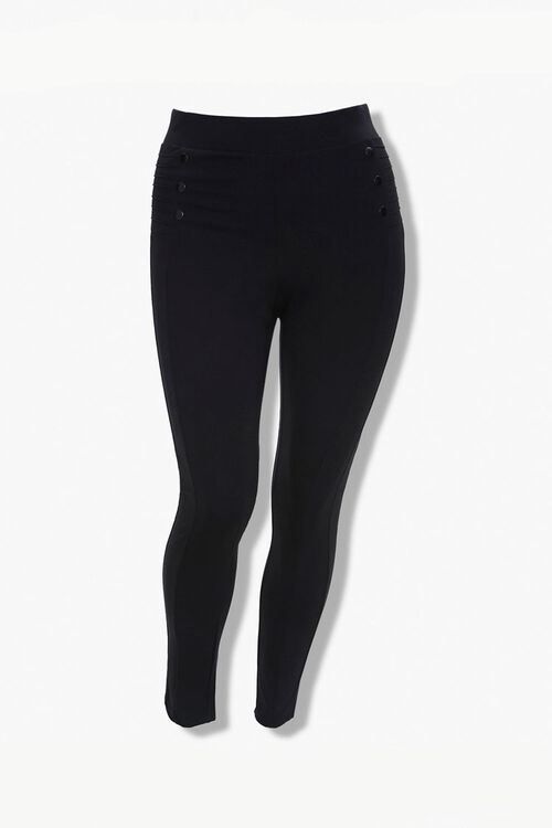 Plus Size Ribbed Leggings, image 1