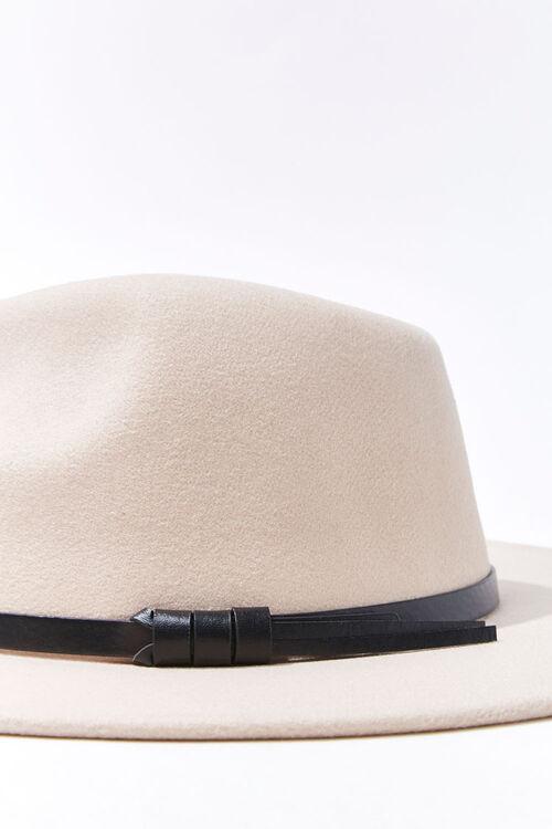 Faux Leather-Trim Fedora, image 4