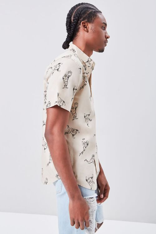 Football Player Print Fitted Shirt, image 2