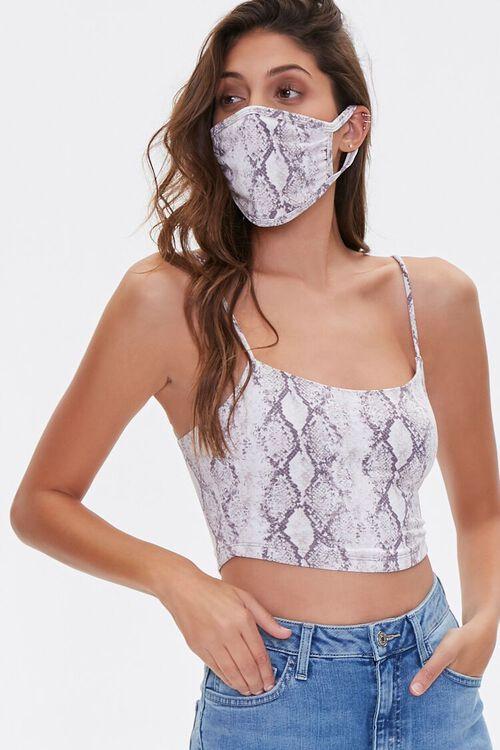 Snake Print Cami & Face Mask Set, image 1