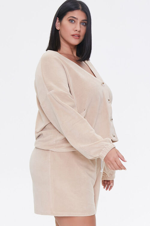 Plus Size Cardigan & Shorts Set, image 2