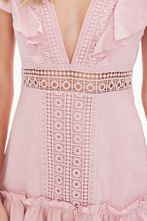 Ruffled Lace-Trim Cap-Sleeve Dress, image 5