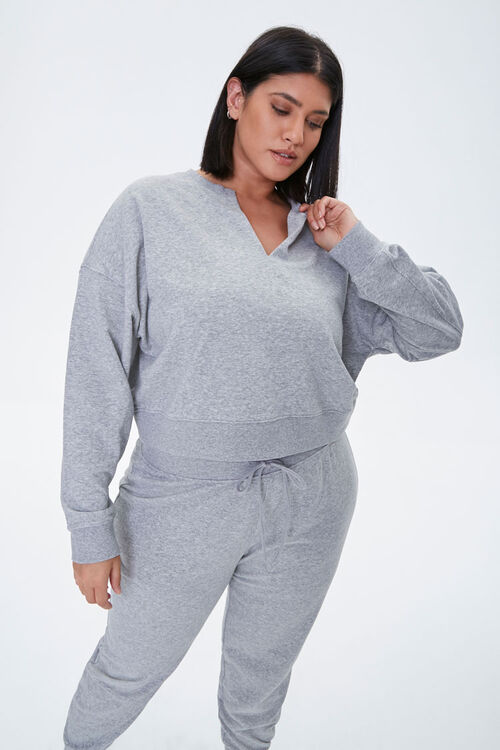 Plus Size French Terry Top, image 1