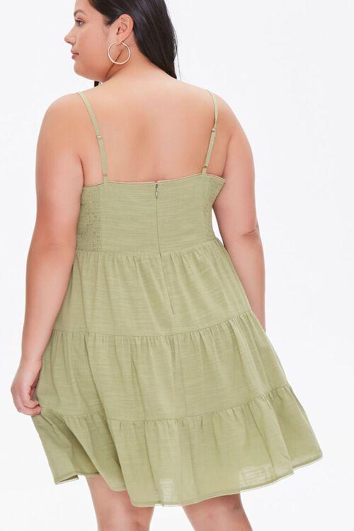 SAGE Plus Size Tiered Cami Dress, image 3