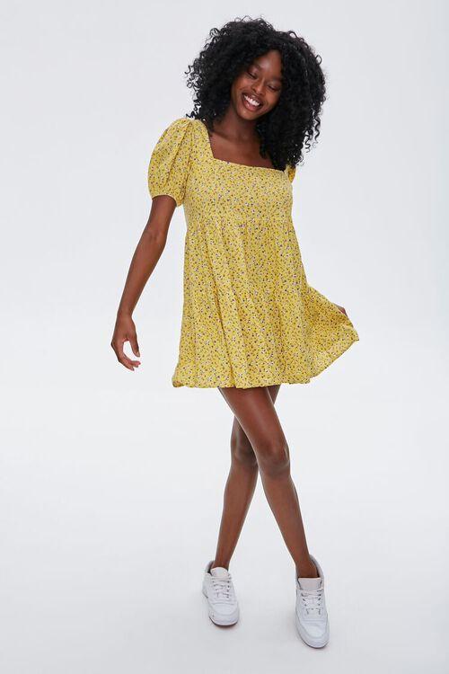 Floral Puff-Sleeve Mini Dress, image 4