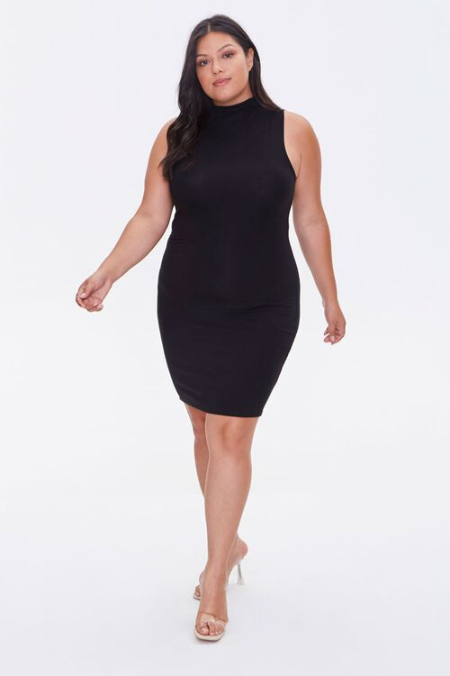 Plus Size Sleeveless Mini Dress, image 4
