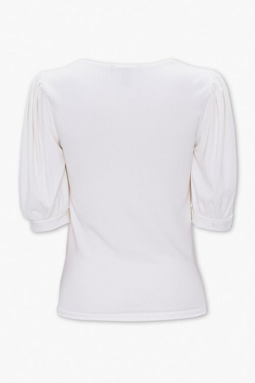 Ribbed Knit Ruched Top, image 2