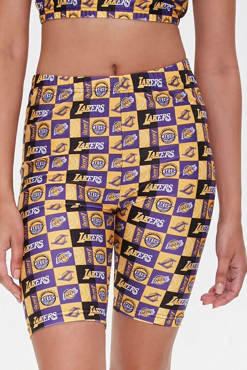 Los Angeles Lakers Biker Shorts, image 2
