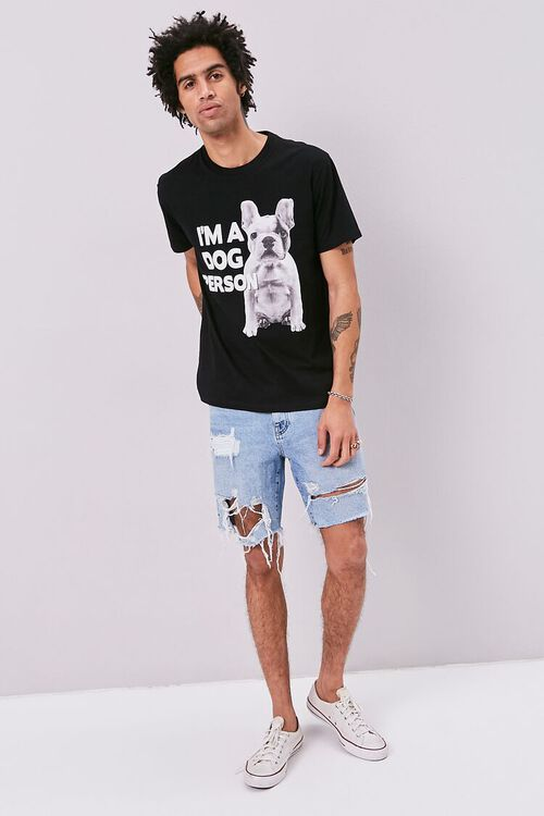 BLACK/WHITE Dog Person Graphic Tee, image 4