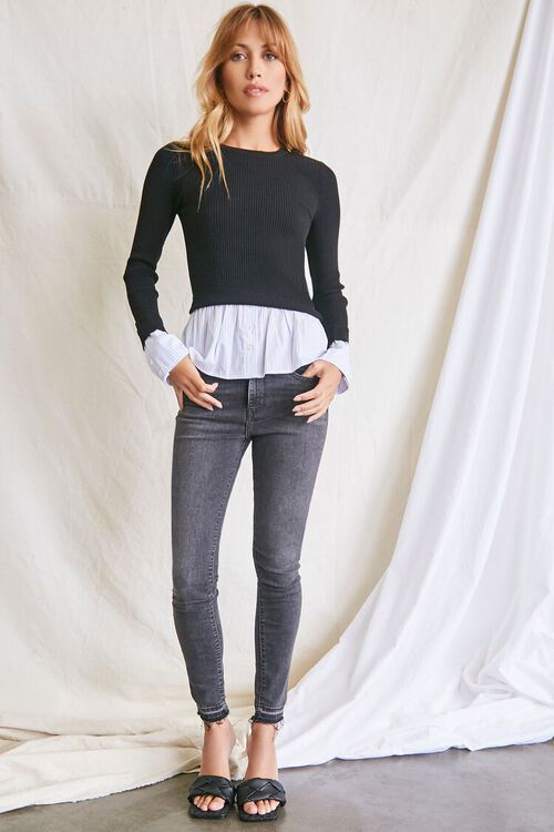 Ribbed Combo Sweater, image 4