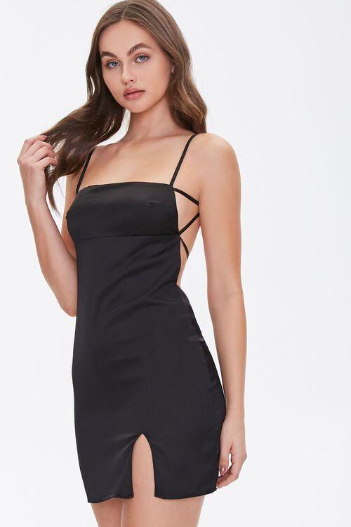 Satin Open-Back Dress, image 1