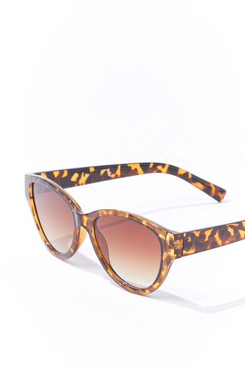 Tortoiseshell Oval Gradient Sunglasses, image 3
