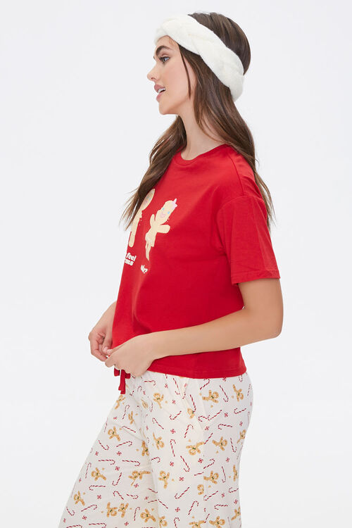 Gingerbread Tee & Pants Pajama Set, image 2