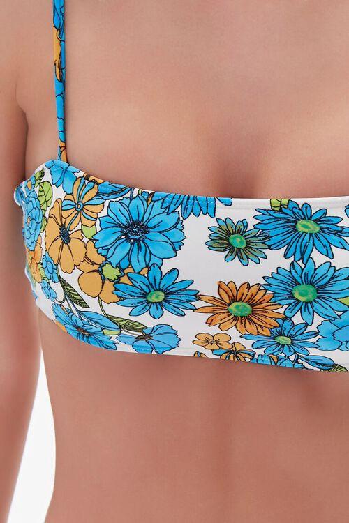 Floral Tie-Strap Bikini Top, image 4