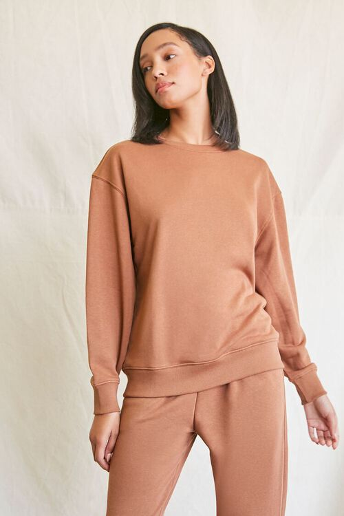 MOCHA French Terry Crew Pullover, image 5