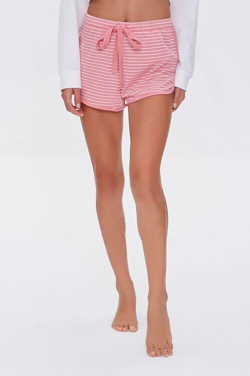 Striped Drawstring Lounge Shorts, image 2