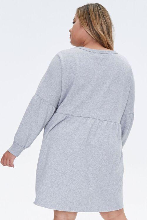 Plus Size Shirred Mini Dress, image 3