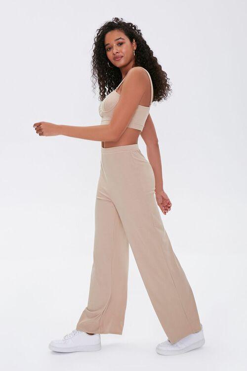 Crop Top & Wide-Leg Pants Set, image 2