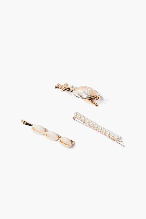 GOLD Pearl & Shell Bobby Pin Set, image 2