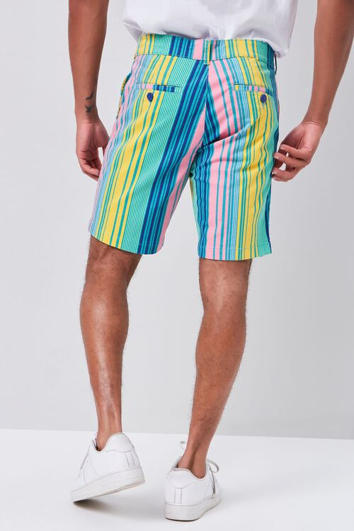 Multicolor Vertical Striped Shorts, image 4