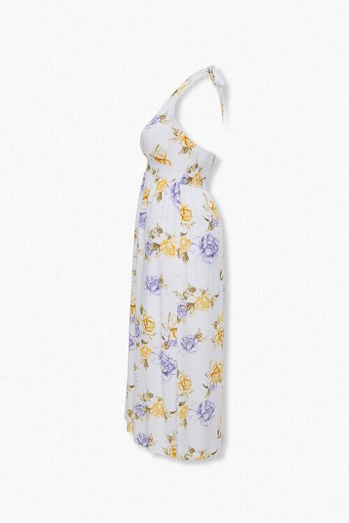 Plus Size Floral Print Halter Dress, image 2