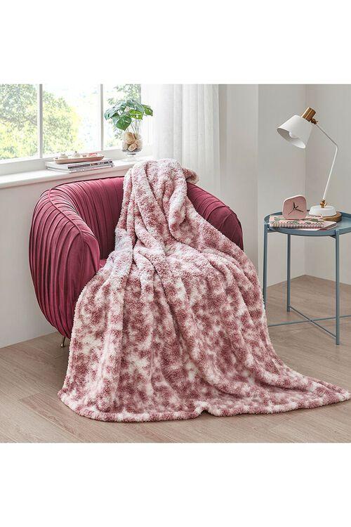 Tie-Dye Faux Shearling Blanket, image 1