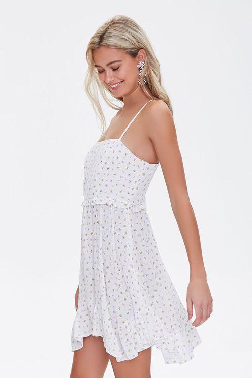 Floral Print Lace-Up Mini Dress, image 2