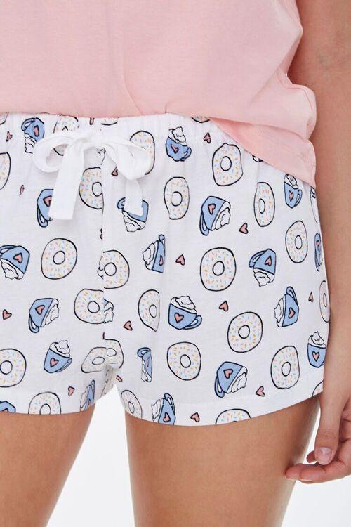 Doughnut Tee & Shorts Pajama Set, image 4