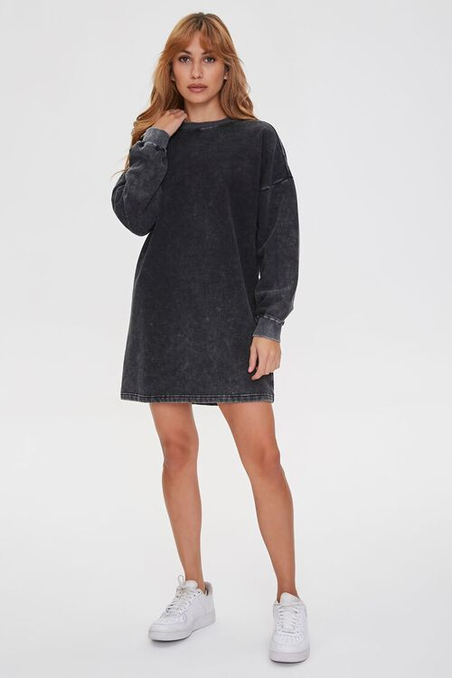 Fleece Sweatshirt Dress, image 4