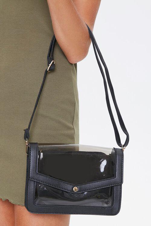 Clear-Panel Crossbody Bag, image 1