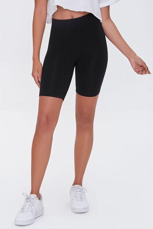 Cotton-Blend Biker Shorts, image 2