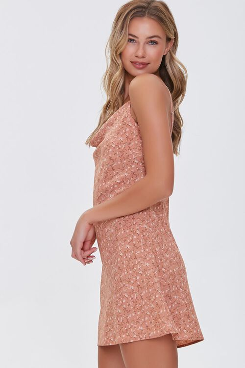 BROWN/MULTI Ditsy Floral Print Dress, image 2