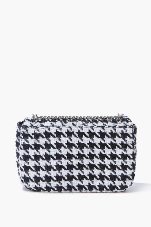 BLACK/WHITE Quilted Houndstooth Shoulder Bag, image 3