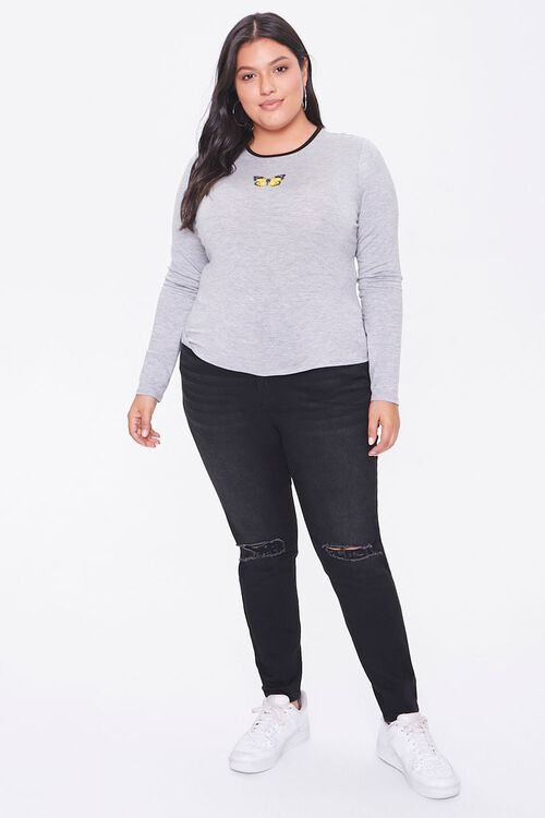 Plus Size Butterfly Graphic Top, image 4