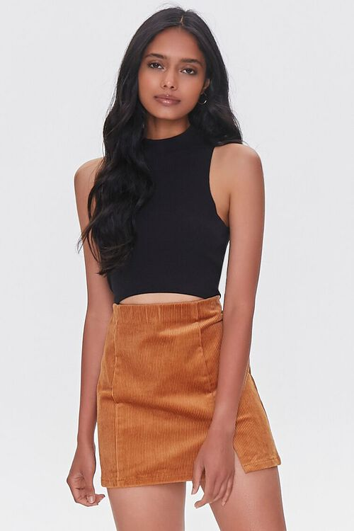 CAMEL Corduroy Mini Skirt, image 1