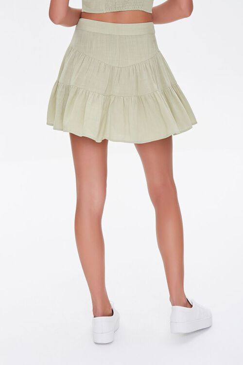 Tiered Button-Front Mini Skirt, image 4