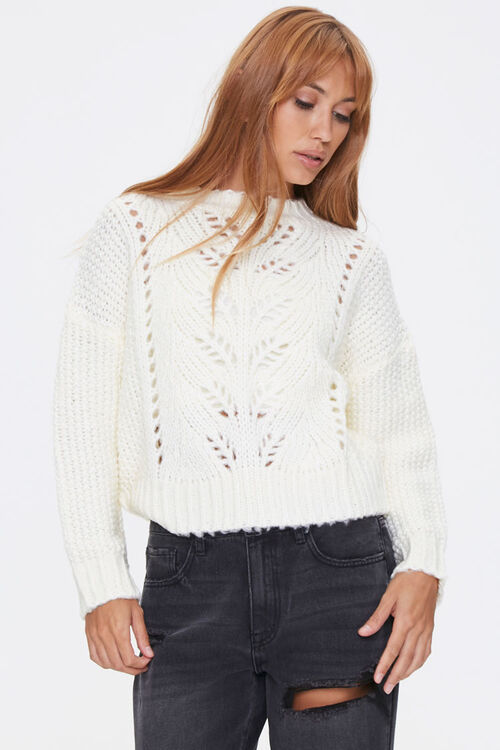 Pointelle Knit Sweater, image 1